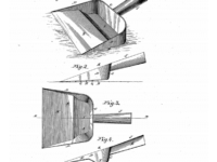 1885 Patent Drawing Of Dustpan